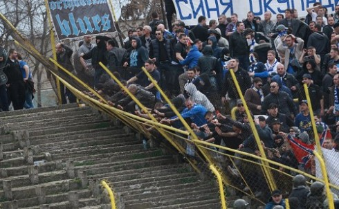 ботев - левски: беспорядки
