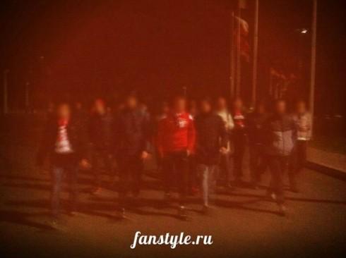 Фанаты Спартака в Грозном