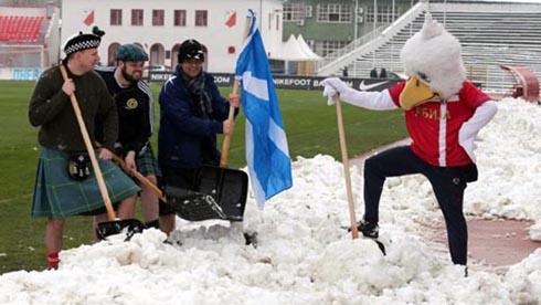 Soccer - 2014 World Cup Qualifier - Group A - Serbia v Scotland - Karadorde Stadium