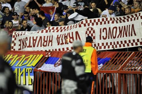 Beograd, 06.09.2013 - Nogomet: Atmosfera na  kvalifikacijskoj utakmici Srbija - Hrvatska