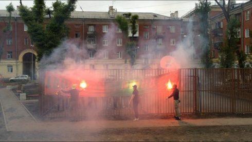 Самарский Юнит уничтожил баннер Rubin Ultras
