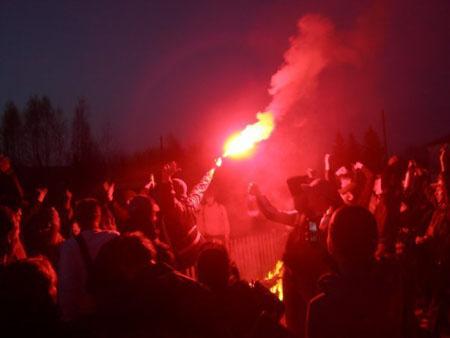 Фанаты ЦСКА в Пичкиряево