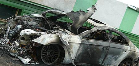 Фанаты сожгли машину Ивана Таранова