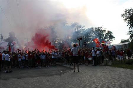 Перфоманс на матче Ростов - Спартак