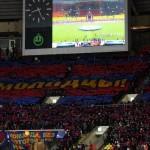 Перфоманс CSKA ULTRAS на матче Лиге Чемпионов