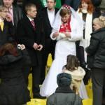 Свадьба на матче Спартак - ЦСКА