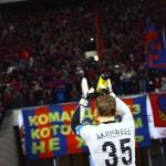 Игроки ЦСКА благодарят фанатов за поддержку