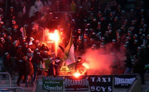 Беспорядки на матче Динамо Дрезден