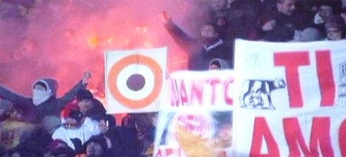 Беспорядки на матче Ювентус - Рома