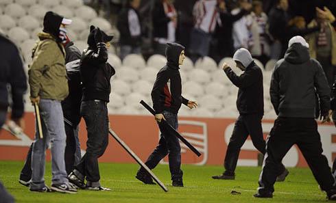 Беспорядки на матче Атлетик Бильбао - Андерлехт