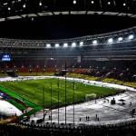 Перфоманс фанатов ЦСКА на матче с Севильей