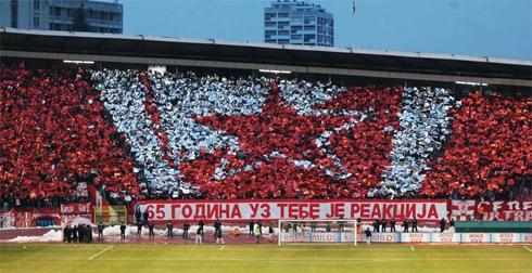 Фото с матча Црвены Звезды
