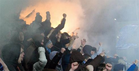 Сектор Зенита на матче против Динамо в Москве