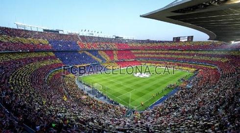 Перфоманс Барселоны на матче с Интером