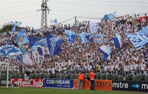 Фанаты Зенита в Ростове на Финале Кубка России