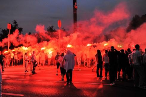 польские фанаты против беззакония