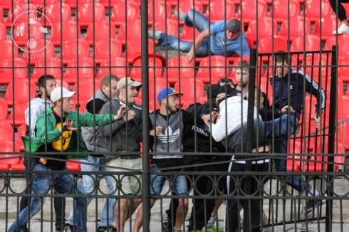 Арсенал - Кубань. Потасовка на матче