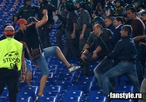 хулиганы ЦСКА в Риме