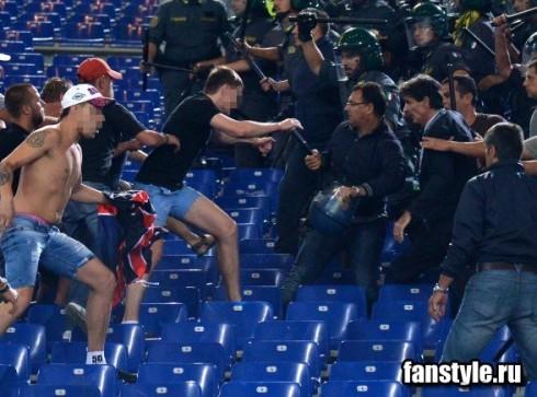 фанаты на матче Рома - ЦСКА