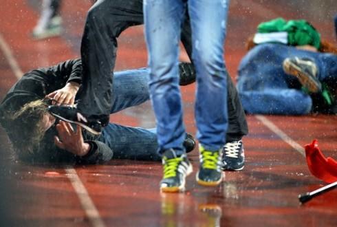 беспорядки на матче Арсенал - Торпедо