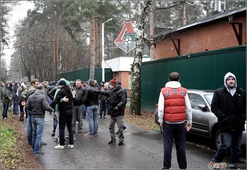 фанаты Локомотива приехали в Баковку