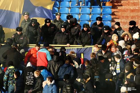 беспорядки на матче Луч - СКА