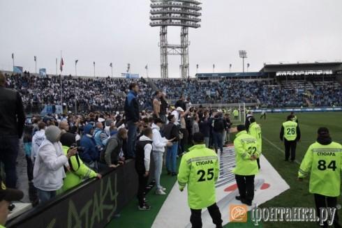 беспорядки на матче Зенит - Динамо